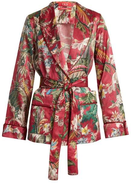 F.R.S – FOR RESTLESS SLEEPERS Armonia floral-print cotton-blend jacket