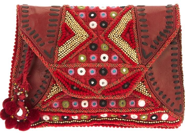 Antik Batik 'Ale' embellished clutch