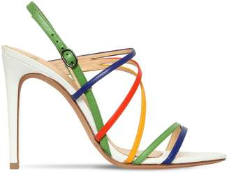 Alexandre Birman 100mm Rainbow Leather Sandals