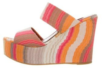 Missoni Patterned Wedge Slide Sandals