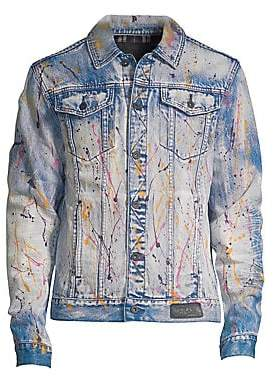 PRPS Men's Multi-Paint Splatter Denim Jacket