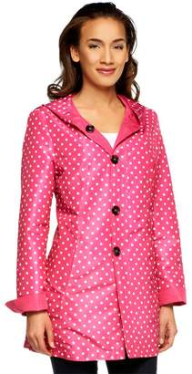 Susan Graver Reversible Printed Button Front Jacket w/ Hood