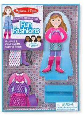Melissa & Doug Fun Fashions Magnetic Dress-Up Doll