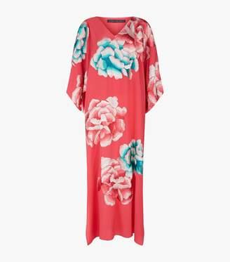 Natori Ikebana Silk Kimono Kaftan
