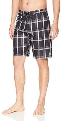 "Hurley Men's Apparel Men's Puerto Rico Supersuede Plaid 21"" inch Boardshort Swim Short"