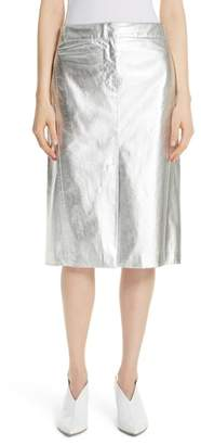 Tibi Tech Faux Leather Trouser Skirt