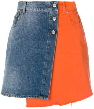 MSGM asymmetric denim skirt