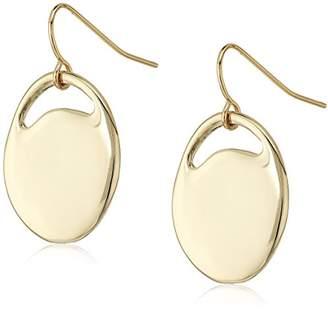 French Connection Women's Pierced Oval Drop Earrings