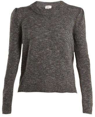 Isa Arfen Speckled Wool Blend Sweater - Womens - Dark Grey