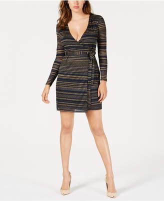 GUESS Vivienne Striped Wrap Dress