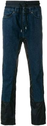 Diesel Black Gold contrast panel straight-leg jeans
