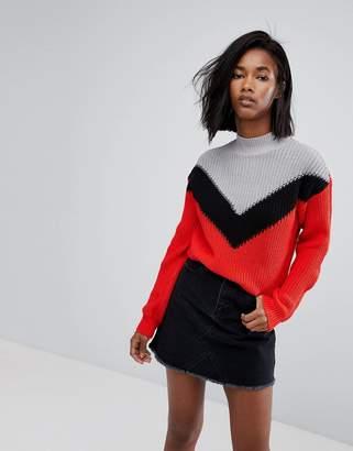 Noisy May Chevron Knit Sweater
