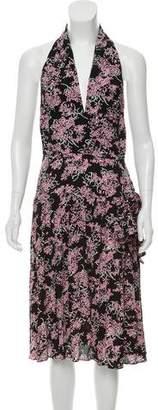 Anna Sui Floral Print Halter Dress