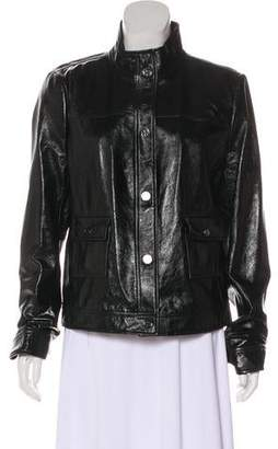 Tory Burch Button-Front Leather Jacket w/ Tags