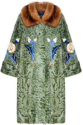 Alena Akhmadullina Fur Collar Swakara Coat