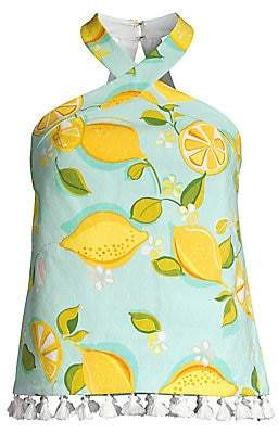 80e3efed5d9cb1 Trina Turk Women s Shangri La Cedar Lemon-Print Halter Top