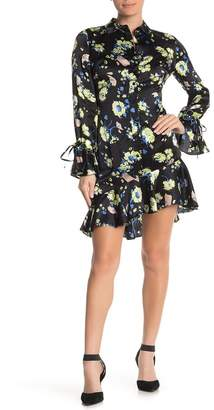 Derek Lam 10 Crosby Long Sleeve Asymmetrical Shirt Dress