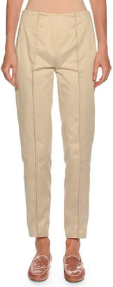 Giorgio Armani Straight-Leg Side-Zip Cotton Pants