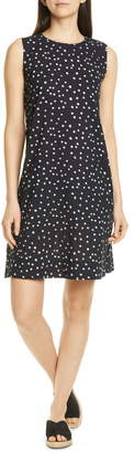 Eileen Fisher Dot Print Organic Cotton Shift Dress