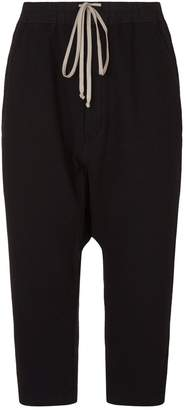 Rick Owens Cropped Drop Crotch Sweatpants