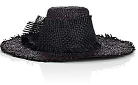Albertus Swanepoel Women's Yvette Straw Oversized Hat - Black