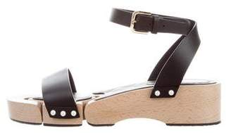 Chanel Leather Ankle Strap Wedges