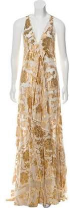 Altuzarra Silk Metallic-Accented Evening Dress