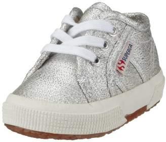 Superga Unisex Kids' 2750-lameb Low-Top Sneakers, Silver, 4 Child UK EU