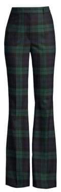 Michael Kors Hi-Rise Plaid Flare Pants