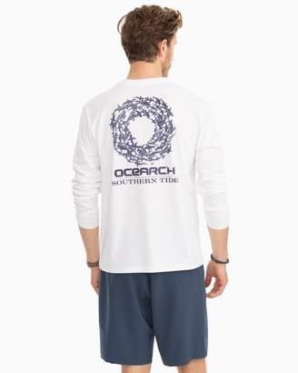 Southern Tide Ocearch Long Sleeve Shark Circle Performance T-shirt