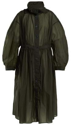 Lemaire Hooded Parachute Parka Coat - Womens - Dark Green