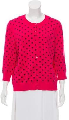 Ellen Tracy Knit Polka Dot Cardigan