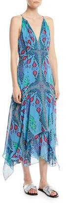 Nanette Lepore Island Style Silk Handkerchief Dress