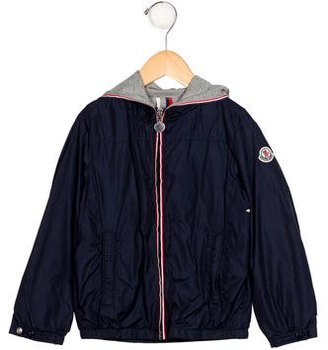 Moncler Boys' Hooded Windbreaker Jacket $245 thestylecure.com