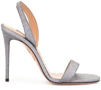 Aquazzura So Nude 105mm sandals