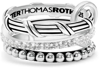 Peter Thomas Roth 3-Pc. Set White Topaz Connected Stacking Rings (1-1/4 ct. t.w.) in Sterling Silver
