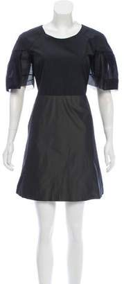 Rue Du Mail Satin Colorblock Dress