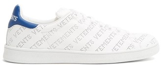 Vetements Low Top Perforated Leather Trainers - Womens - Blue White