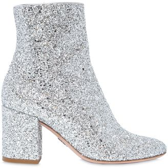 80mm Nicole Glittered Ankle Boots $737 thestylecure.com