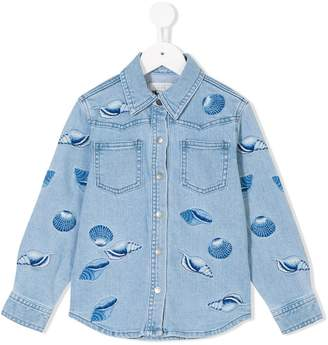 Stella McCartney Jules shell embroidered denim shirt