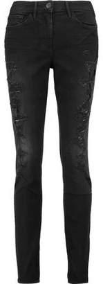 3x1 W2 Mid-Rise Distressed Skinny Jeans