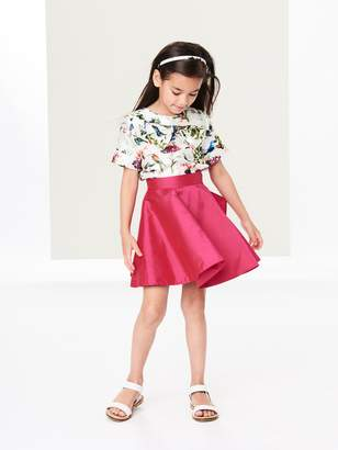 Oscar de la Renta Taffeta Bow Skirt