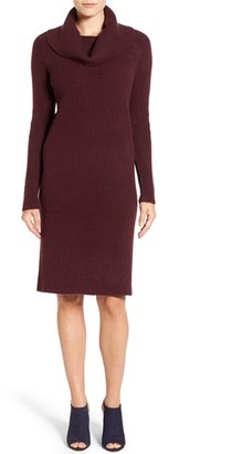 Petite Women's Halogen Cowl Neck Sweater Dress $79 thestylecure.com