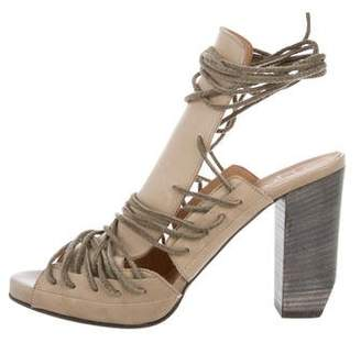 Ld Tuttle Lace-Up Peep-Toe Pumps w/ Tags