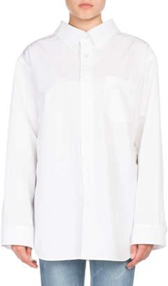 Balenciaga Oversized Cotton Swing Blouse