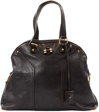 Saint Laurent Muse Burgundy Leather Handbag