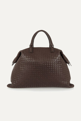 Bottega Veneta Convertible Intrecciato Leather Tote - Chocolate