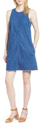 J.Crew J. CREW Raw Edge Hem Denim Shift Dress