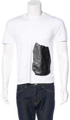 Loewe Vegan Leather-Trimmed T-Shirt