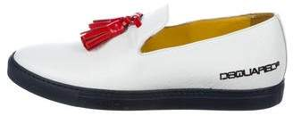 DSQUARED2 Leather Tassel Sneakers